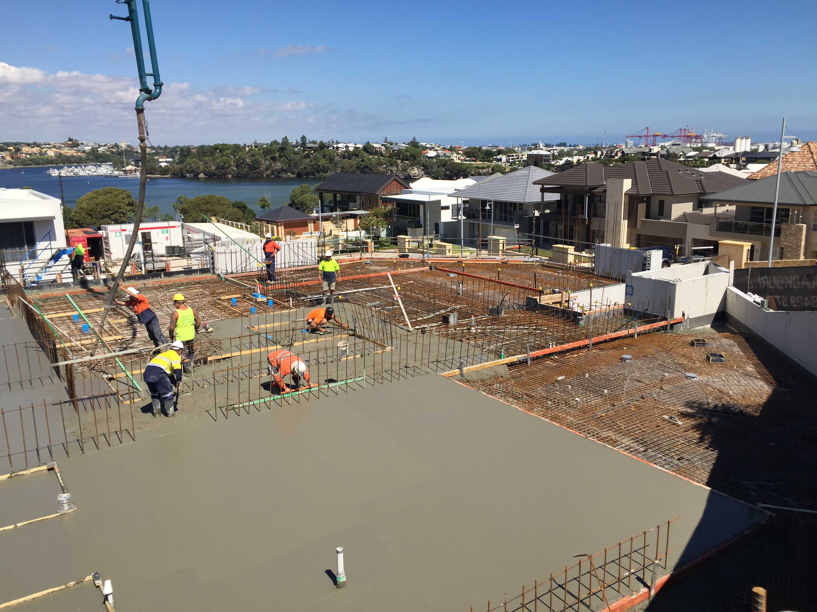 Its Been A Big Day For Our Team At The Cove Apartments Site In North  Fremantle, With The Lower Terrace Ground Floor Slab Pour Now Well Underway.